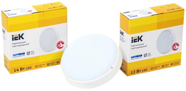 Светодиодные светильники ДПО 2001-2006 IEK® – высокая степень защиты IP54 и световая отдача 95 лм/Вт